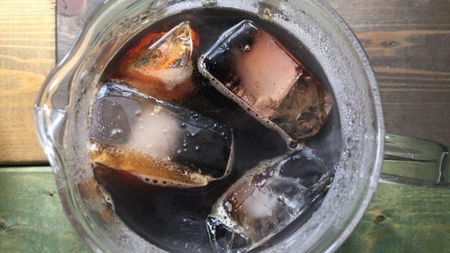 ④抽出後、氷を淹れて急冷