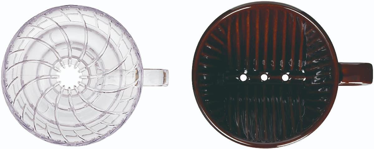 コーヒードリッパーのリブの形