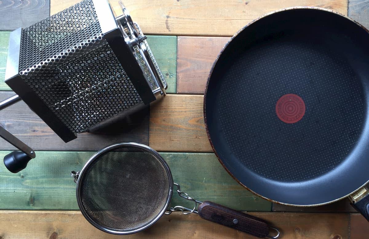 コーヒー生豆自家焙煎の5つの方法をそれぞれ解説します