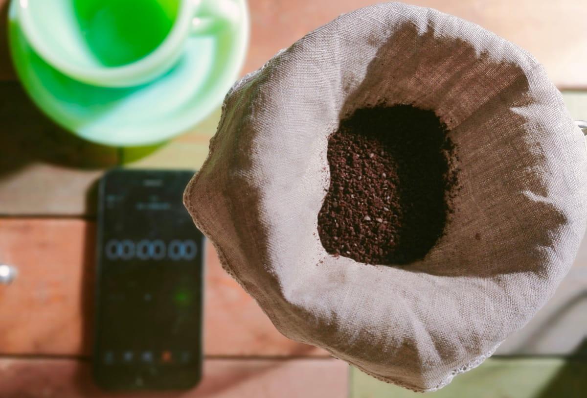 リネンフィルターでコーヒーを淹れてみる