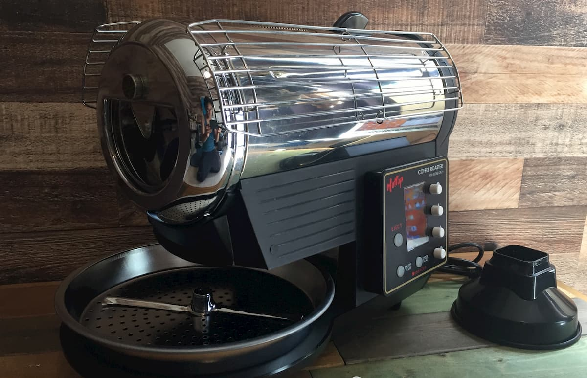 家電製品のコーヒー焙煎機