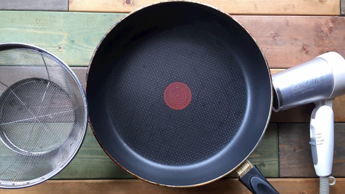 コーヒー豆のフライパン焙煎に必要な道具【家にあるもので十分!】